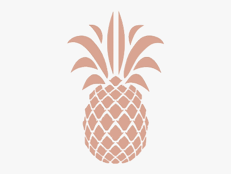 #pineapple #aesthetic #rosegold #aesthetics #pineapples - Rose Gold Aesthetic Stickers, Transparent Clipart