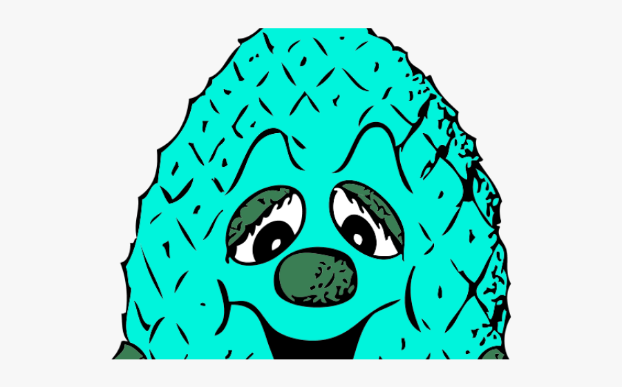 Pineapple Clipart Turquoise - Pineapple Head, Transparent Clipart