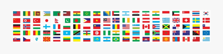 International Flags Banner Png - World Flags Banner Png, Transparent Clipart