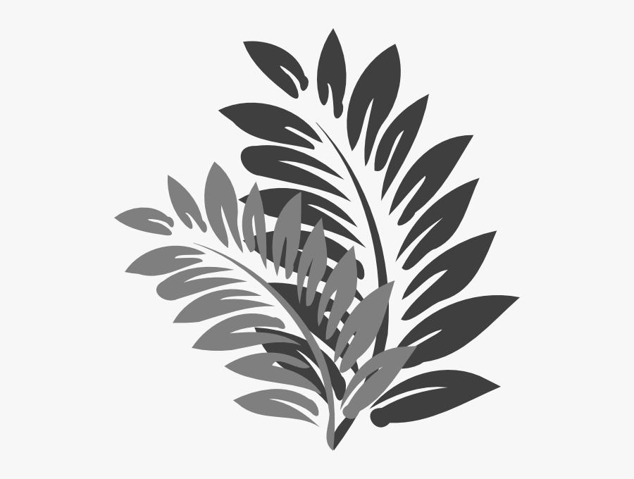 Branch Clipart Fancy Leaf - Gray Leaves Clip Art, Transparent Clipart