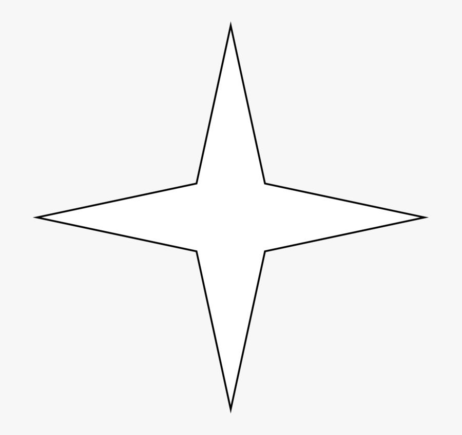 Transparent White Star Clipart - Line Art, Transparent Clipart