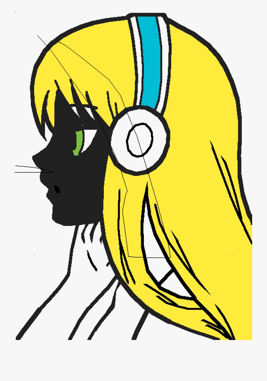 Anime Girl Not Colored , Transparent Cartoons - Anime Girl Not Colored, Transparent Clipart