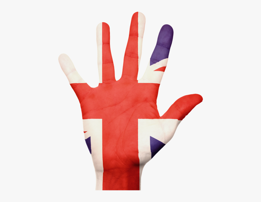 Flag Union Jack Hand - English Flag Hand Png, Transparent Clipart