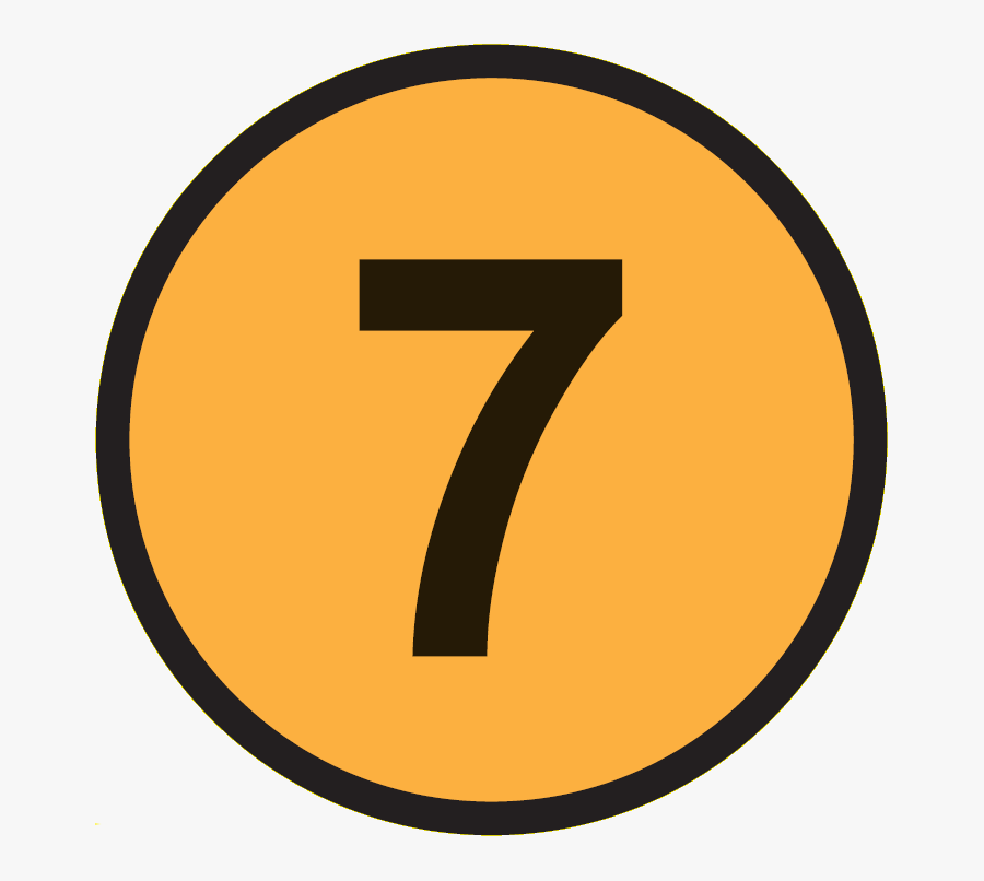Number 7 In A Circle, Transparent Clipart