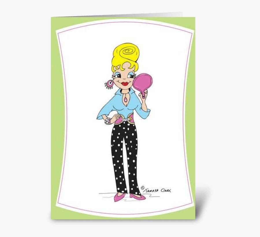 Beehive Jean Greeting Card - Cartoon, Transparent Clipart