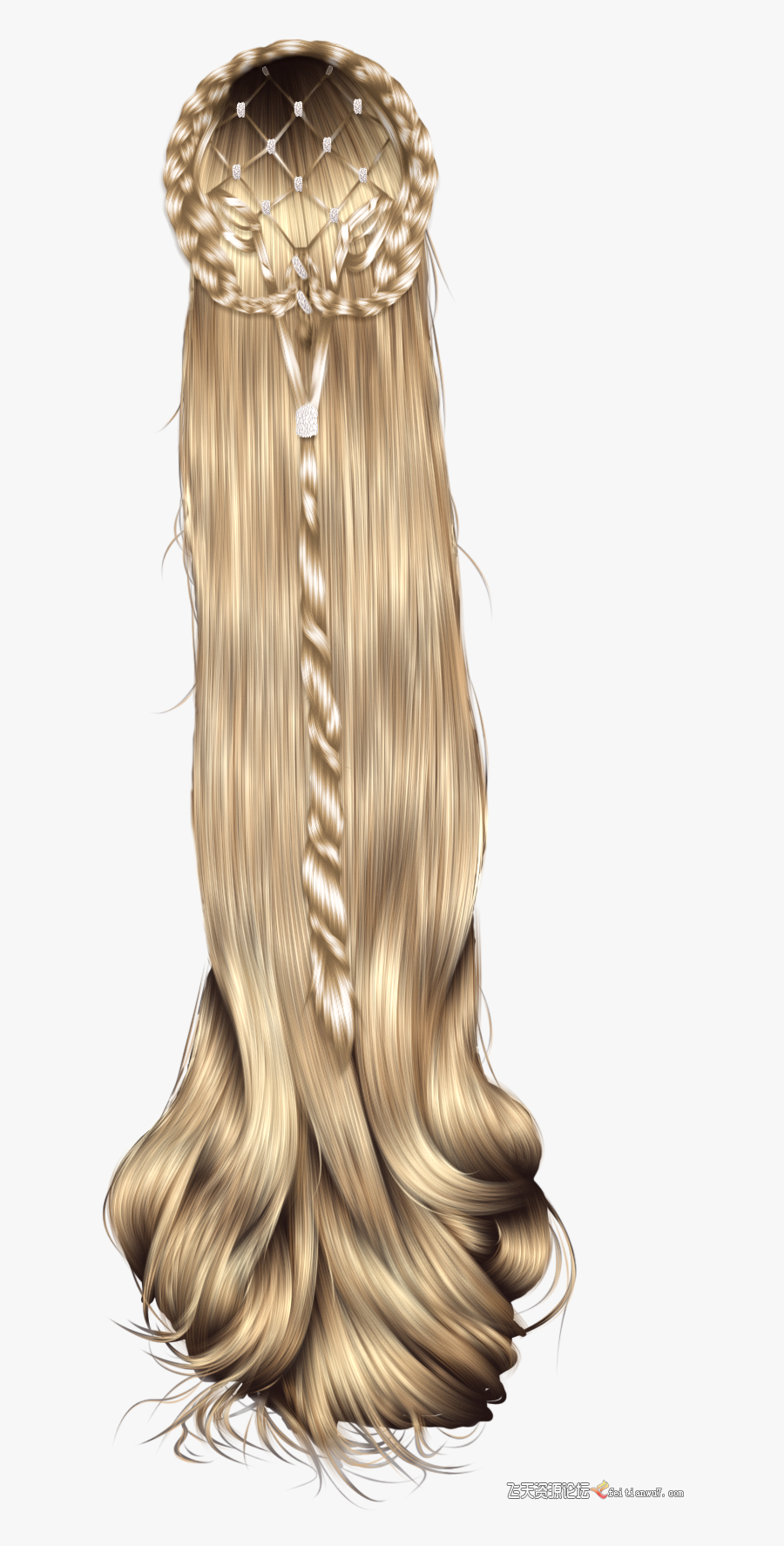 Hairstyle Wig Clip Art - Long Princess Hairstyles, Transparent Clipart