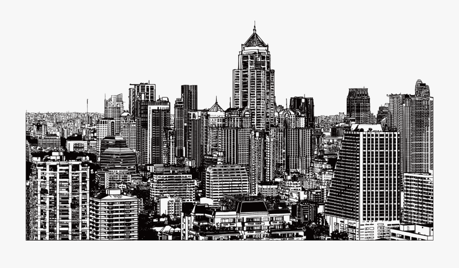 New York City Drawing Building Illustration - New York City Night Drawing, Transparent Clipart