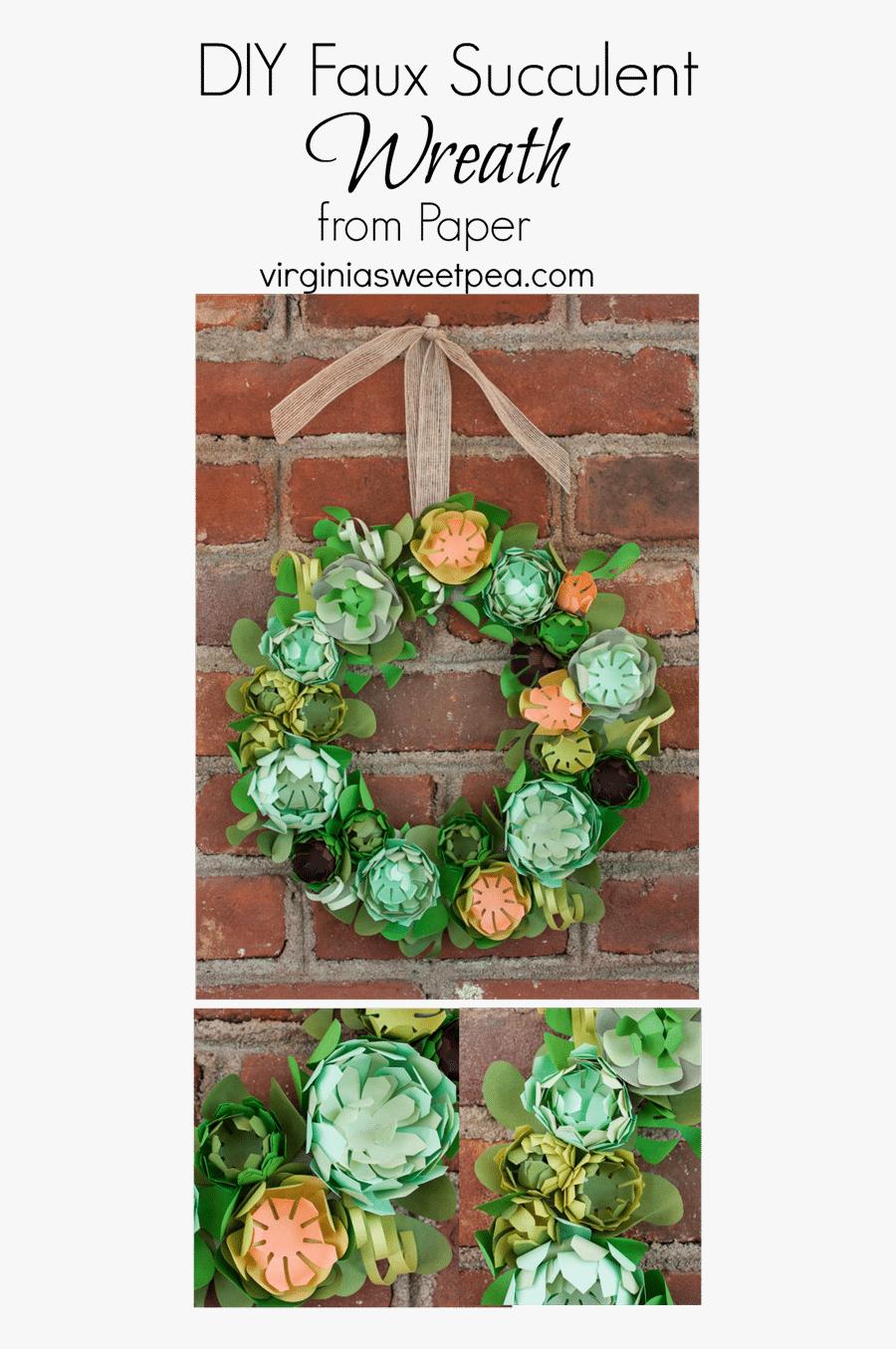 Transparent Fall Wreath Png Succulents Paper Wreath Free Transparent Clipart Clipartkey