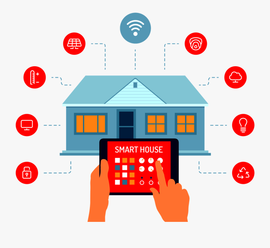 Upgrade Your Space Smart - Iot Smart Home, Transparent Clipart
