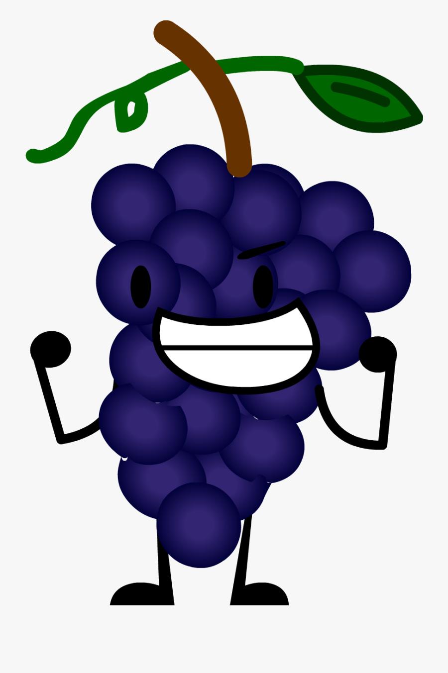 Grape Clipart Purple Object - Grape Png Clipart Purple, Transparent Clipart