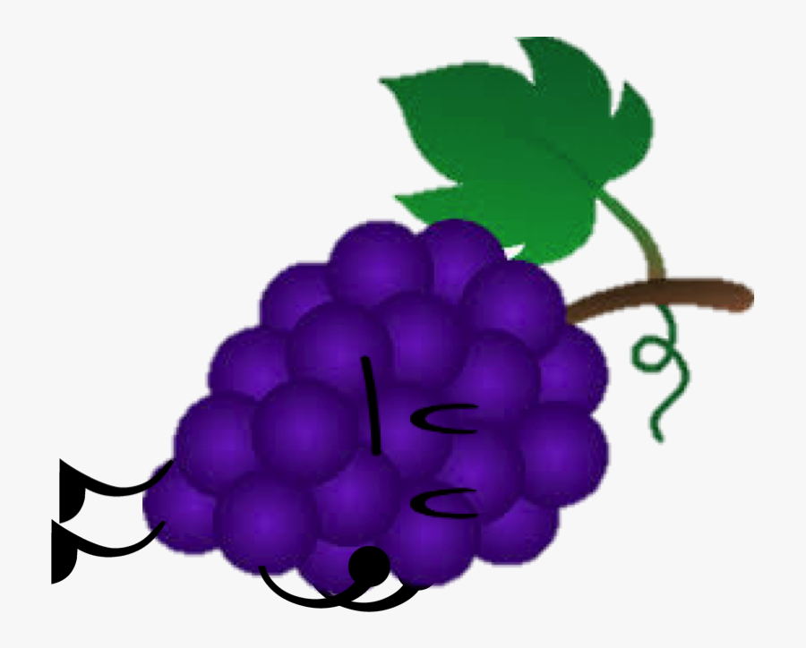 Grape Clipart Purple Object - Object Show Grape, Transparent Clipart
