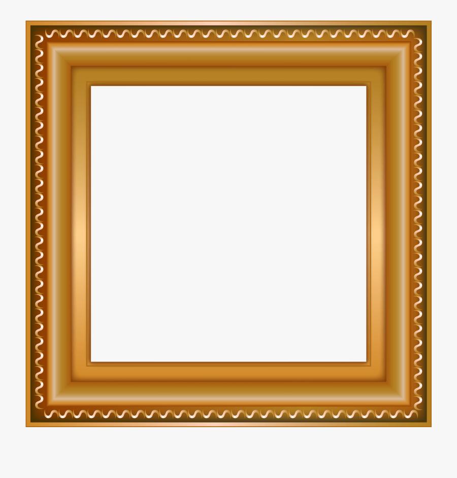 Transparent Golden Picture Frame Png - Square Objects, Transparent Clipart