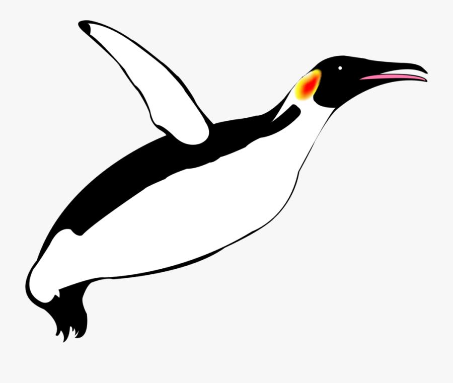 Emperor Penguin Flightless Bird Razorbills - Flying Penguin Transparent, Transparent Clipart