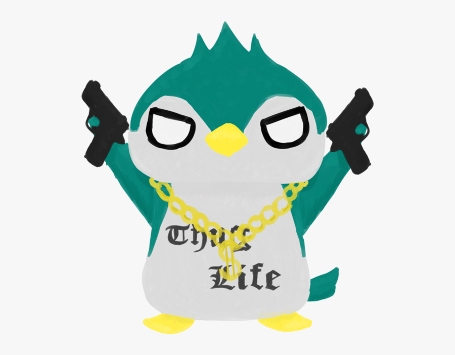 Thug Life Penguin By Airilove - Thug Life Penguin, Transparent Clipart