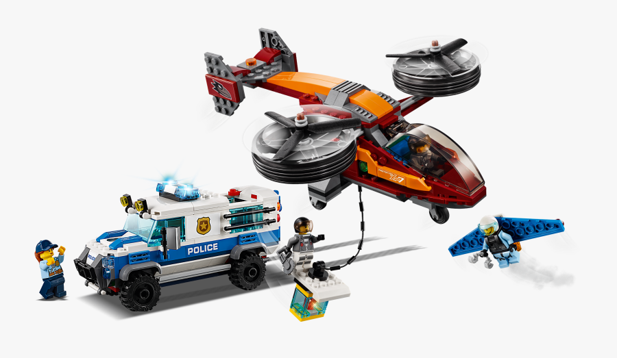 Lego City Police Sky Police Diamond Heist 60209 Building - Lego City Sky Police Diamond Heist 60209, Transparent Clipart