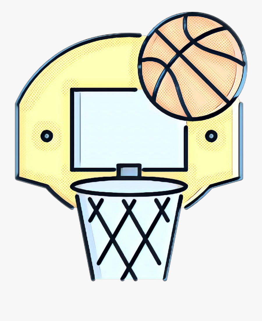 Outline Of Basketball Free Throw Sports Clip Art - Basketball In Basket Png, Transparent Clipart