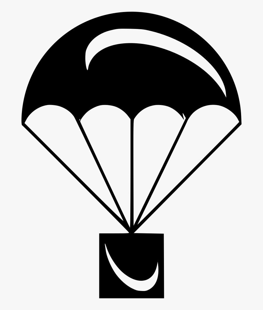 Parachute - White Parachute Icon Png, Transparent Clipart