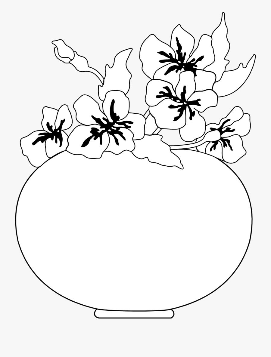 Gambar Bunga Hitam Putih Free Transparent Clipart ClipartKey