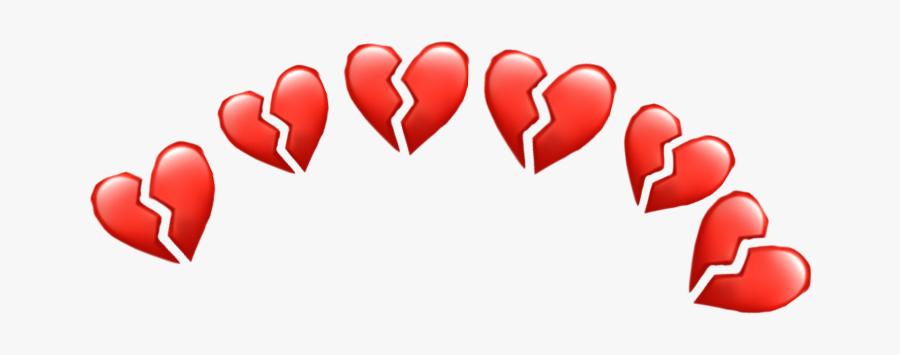 #heartbroken #crown #heartcrown #broken #sticker #freetoedit - Broken Heart Emoji Crown Png, Transparent Clipart