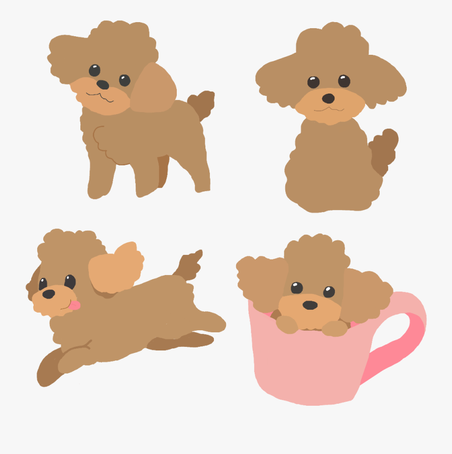 Poodle Running Clipart, Transparent Clipart