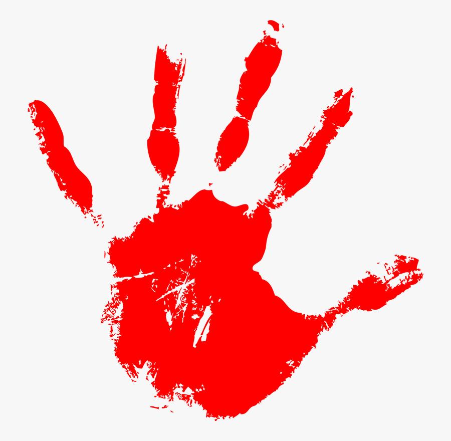 Graphic Design - Red Paint Hand, Transparent Clipart