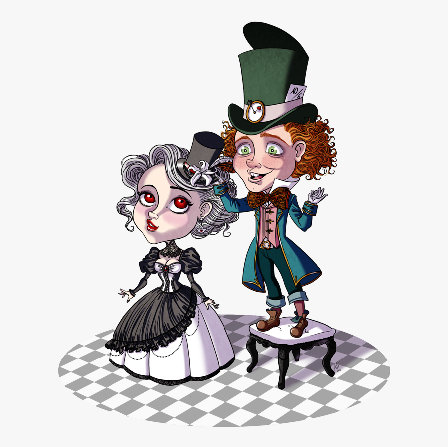 """Mad Hatter White Queen Alice""""s Adventures In Wonderland - Alice And Mad Hatter Fanart, Transparent Clipart"""
