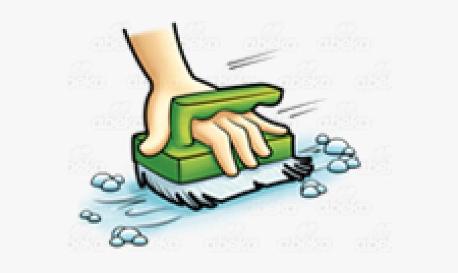 Brush Clipart Scrubbing, Transparent Clipart