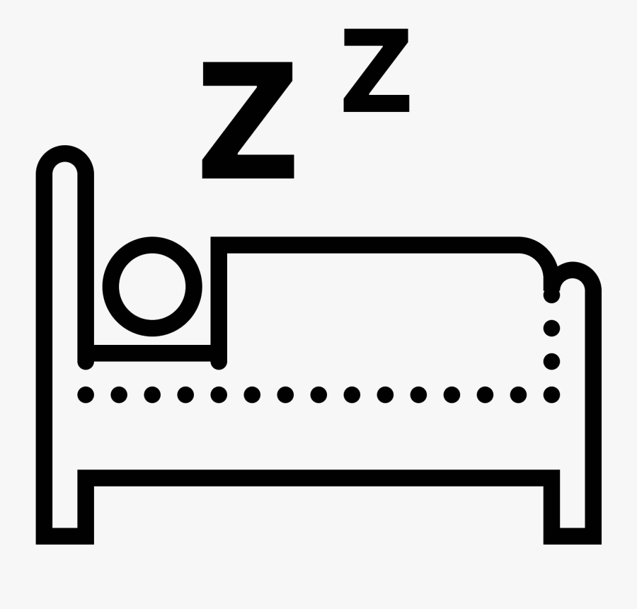 Seen From The Side, A Person Lying Down In Bed - Person Lying In Bed Clipart, Transparent Clipart