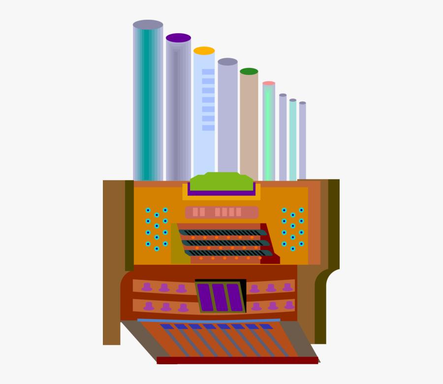 Vector Illustration Of Christian Religion Church Pipe - Church Organ Clip Art, Transparent Clipart