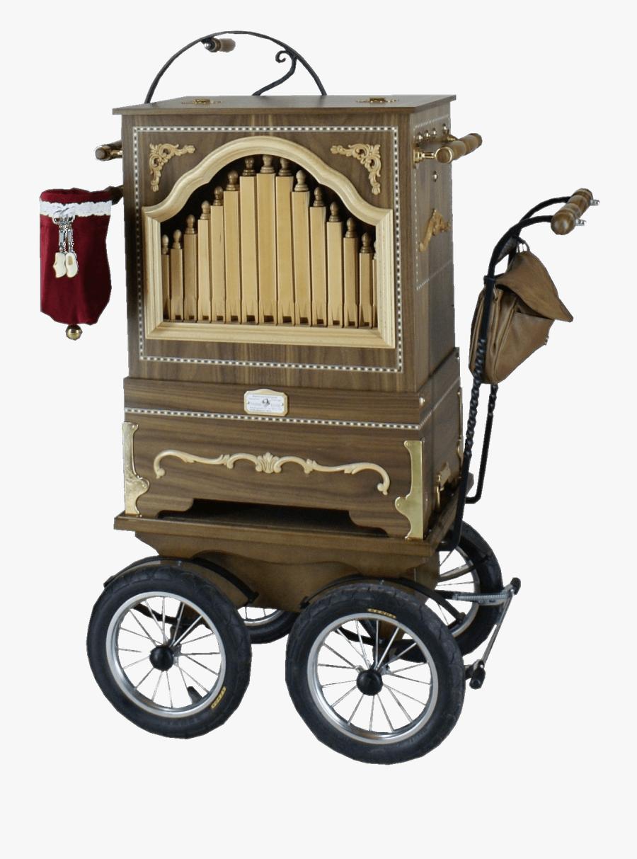 Barrel Organ On Kart Clip Arts - Street Organ, Transparent Clipart