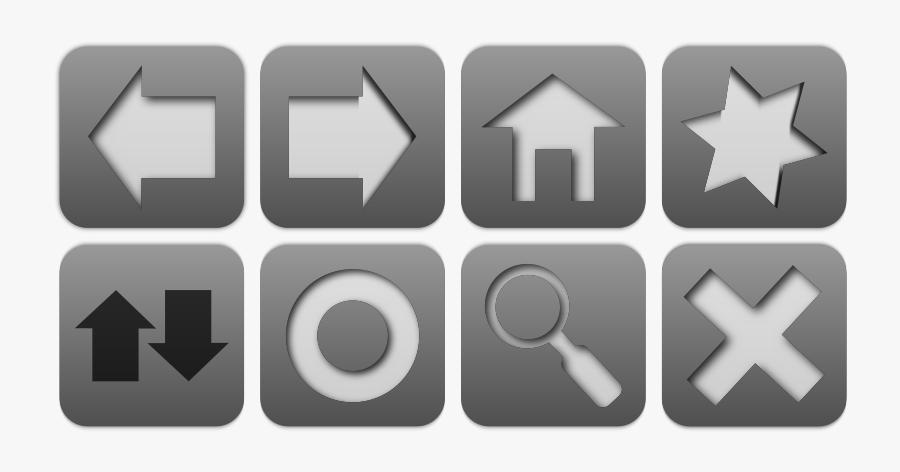 Browser Icon Set - Web Browser Navigation Icons, Transparent Clipart