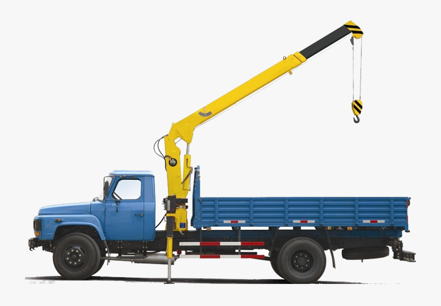 Pickup Truck Mobile Crane Knuckleboom Crane - Truck With Hydraulic System, Transparent Clipart