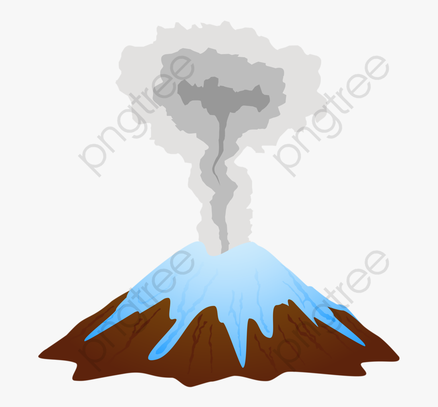 Eruption Creative Cartoon Png - Stages In A Volcano Erupts, Transparent Clipart