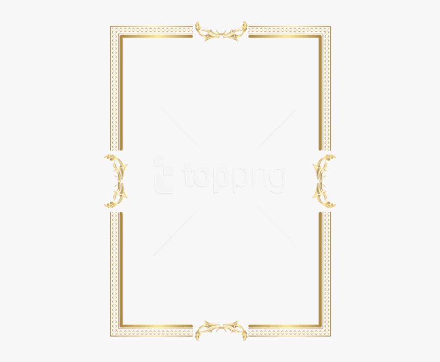 Golden Border Designs Png - Gold Border Frame Png, Transparent Clipart