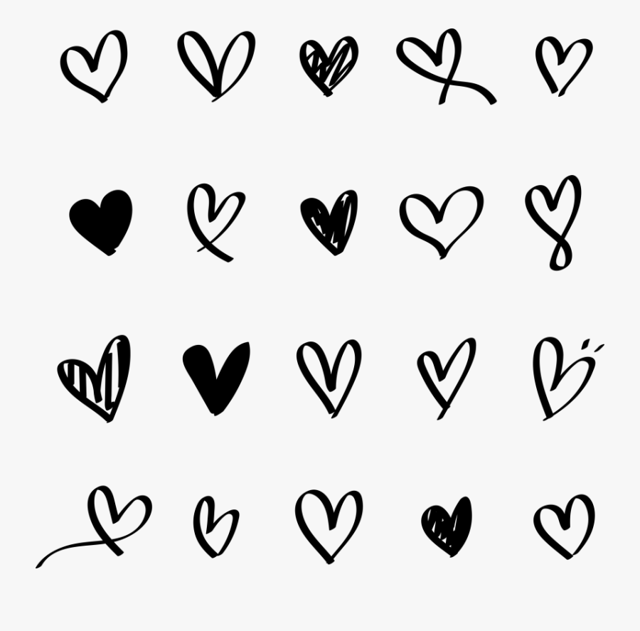 Free Hand Drawn Heart Logo, Transparent Clipart