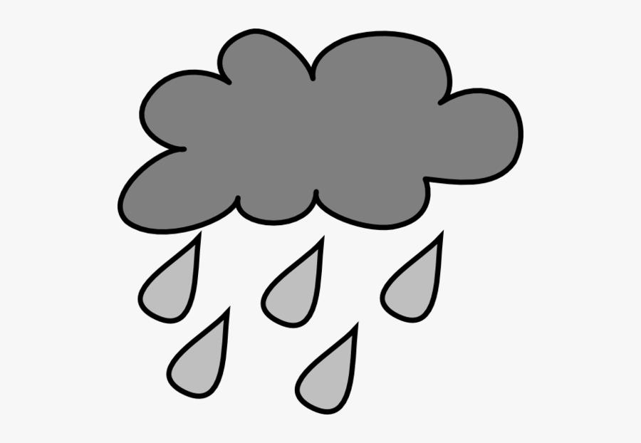 Rain Cloud Template Printable Clipart - Gray Rain Cloud Clipart, Transparent Clipart