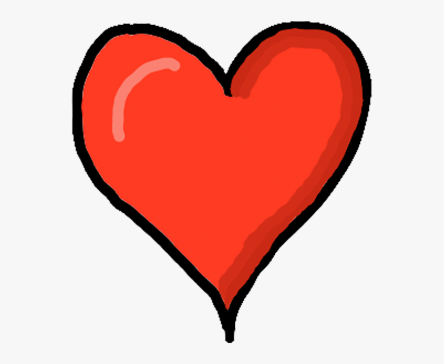 Heart,red,love,clip Day,line,human Body,graphics,symbol - Cartoon Heart No Background, Transparent Clipart