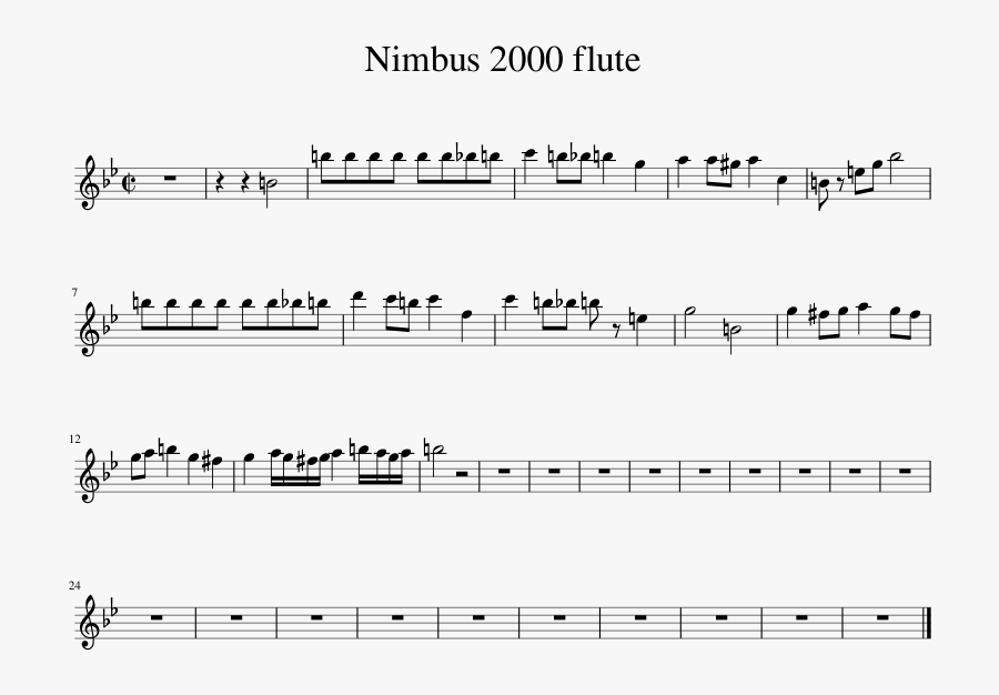 Nimbus 2000 Png - We Are Number One Flute, Transparent Clipart