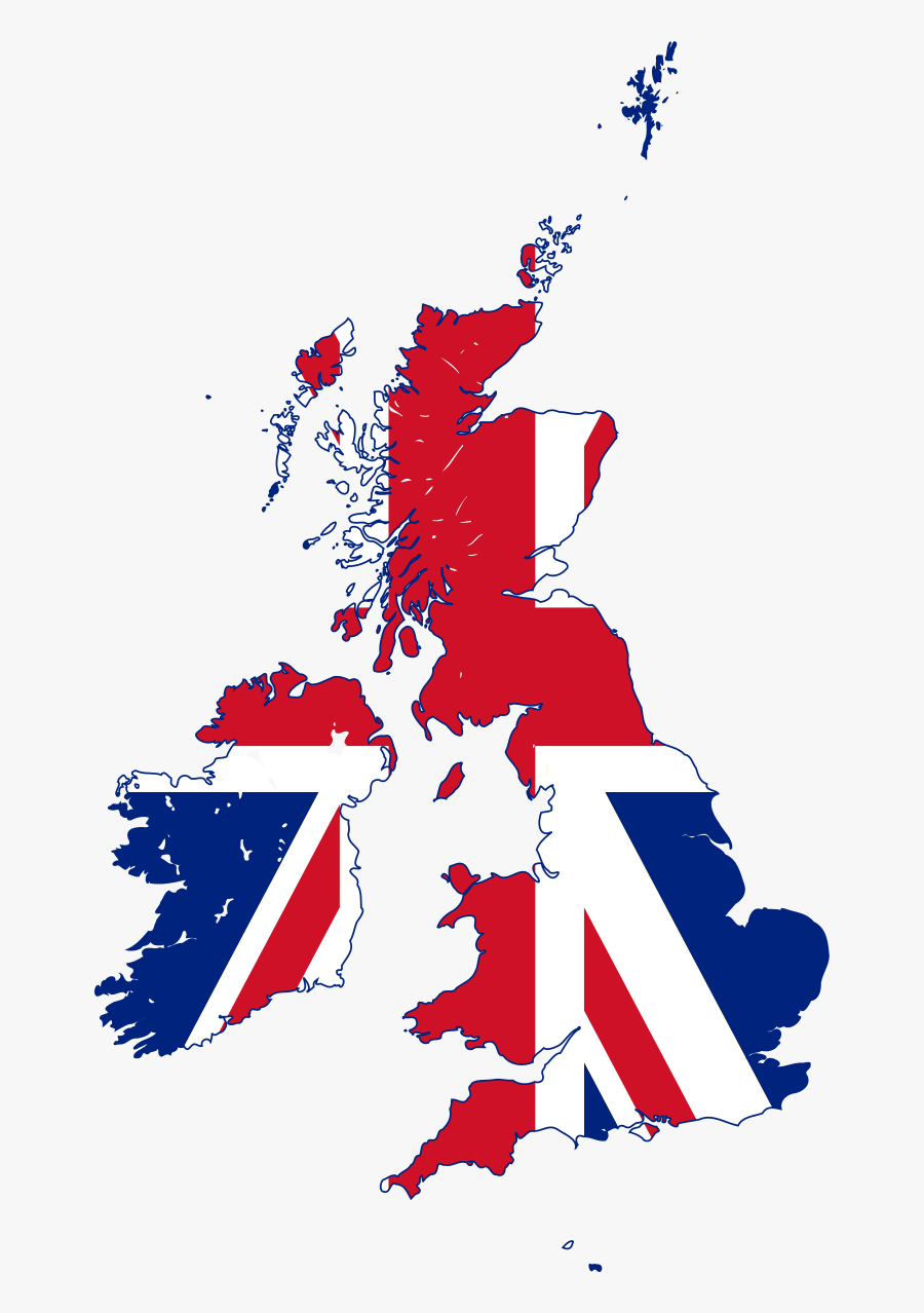 File Flag Of The - United Kingdom Flag Map, Transparent Clipart