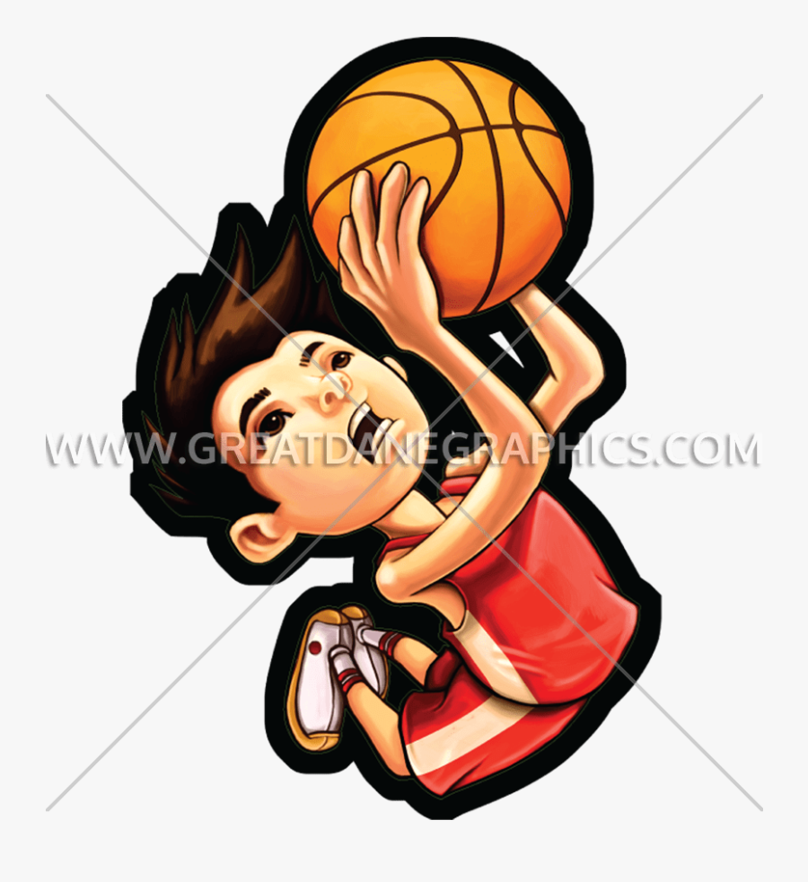 Kid Dunk Production Ready - Kid Basketball Dunk Png, Transparent Clipart