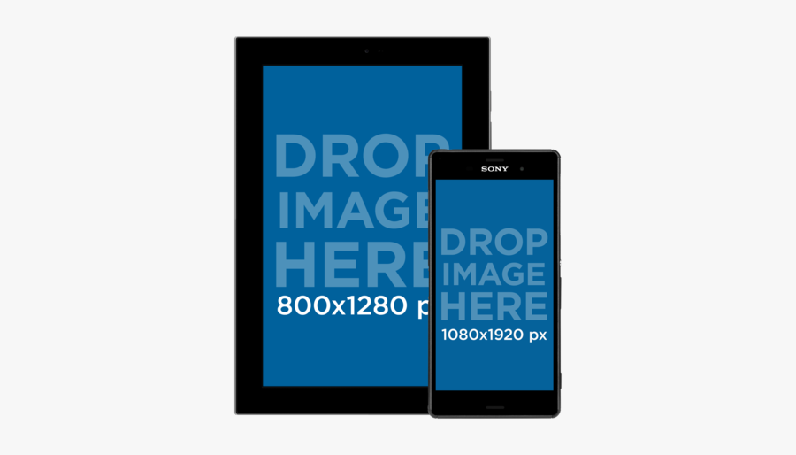 Android Tablet And Phone Mockup, Transparent Clipart