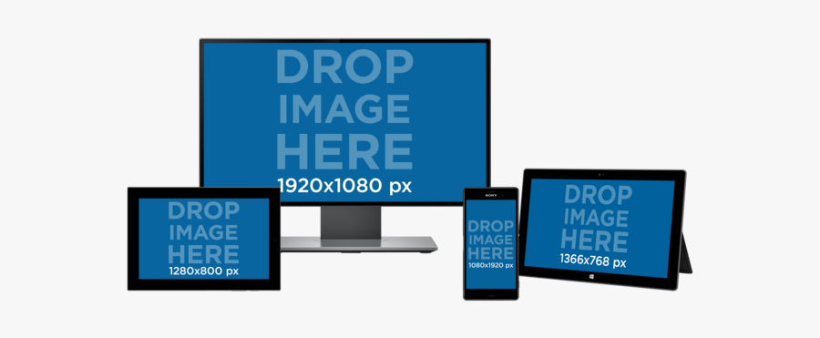 Android Devices Mockup, Transparent Clipart