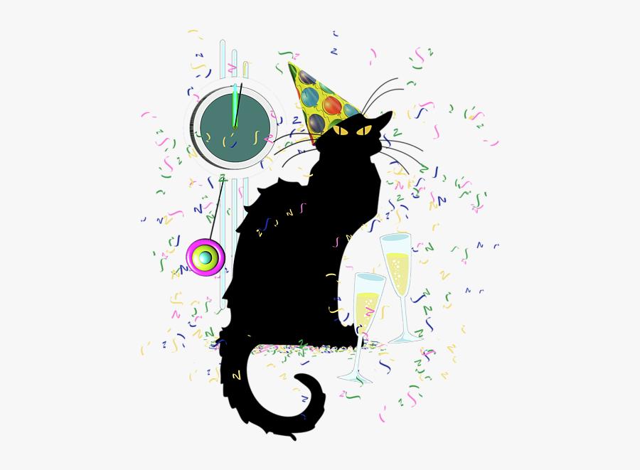 Chat Noir Cat, Transparent Clipart