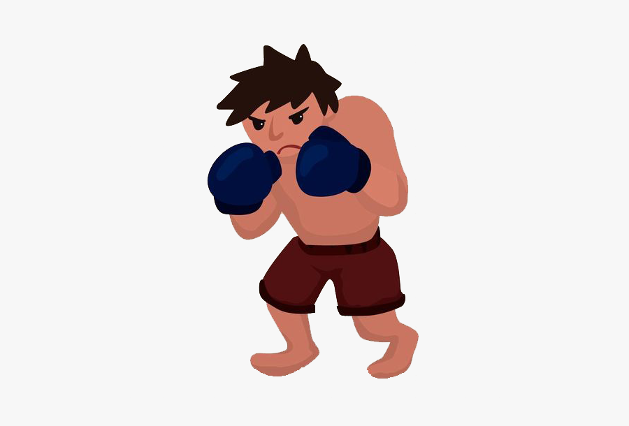 Clip Art Man Transprent - Boxer Cartoon No Background, Transparent Clipart
