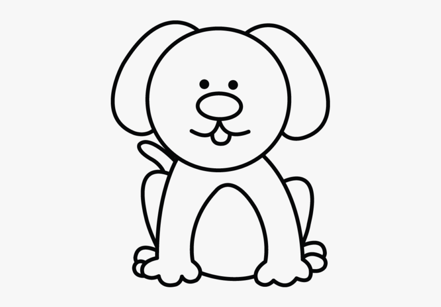 Dog Drawing - Easy Simple Dog Drawing, Transparent Clipart