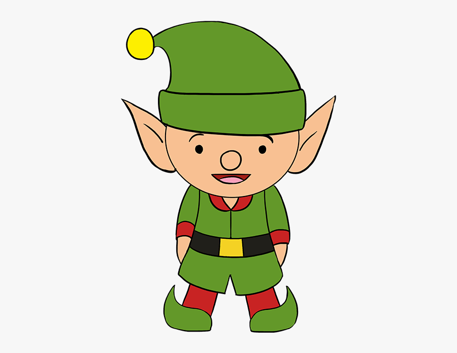 How To Draw Elf - Easy How To Draw An Elf, Transparent Clipart