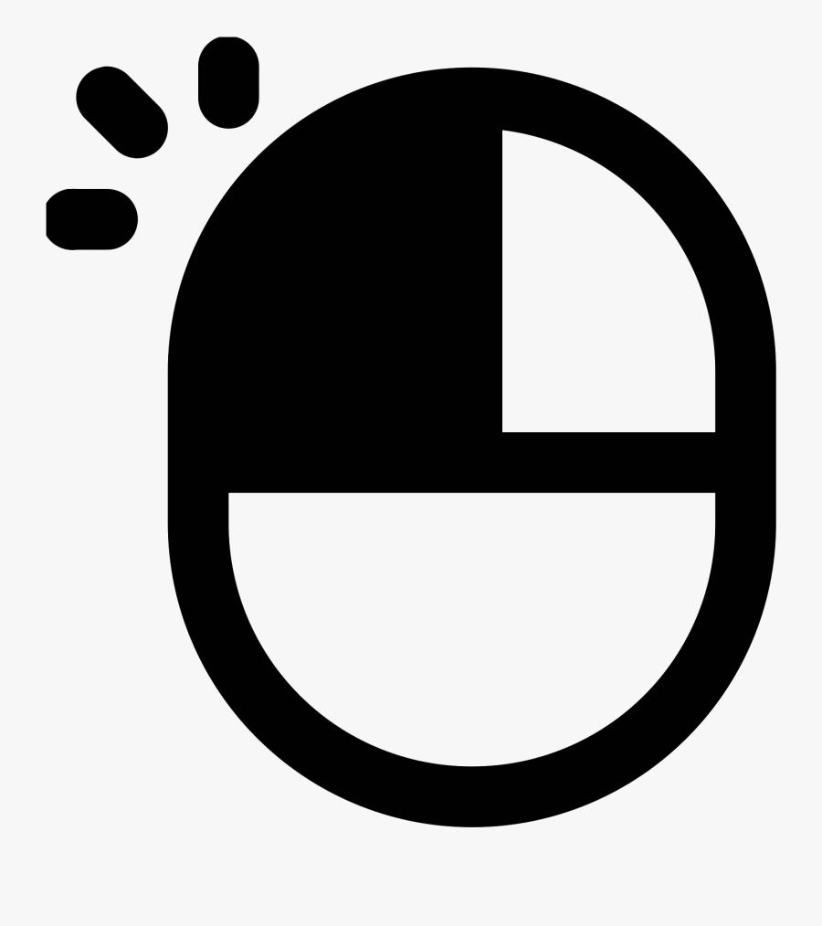 Mouse Cursor Click Clipart Computer - Left Mouse Button Icon, Transparent Clipart