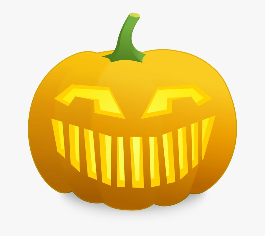 Smiley Clipart Pumpkin - Scared Jack O Lantern Face, Transparent Clipart