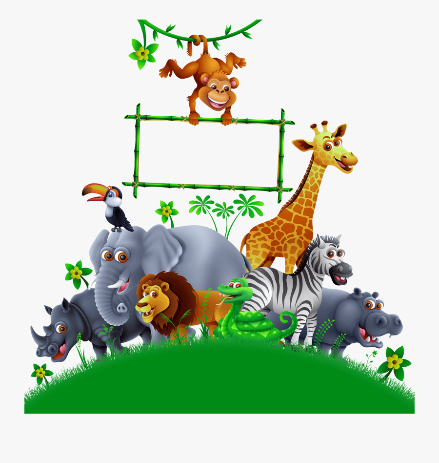 Transparent Playground Clip Art - Animals In Bounce House Clip Art, Transparent Clipart