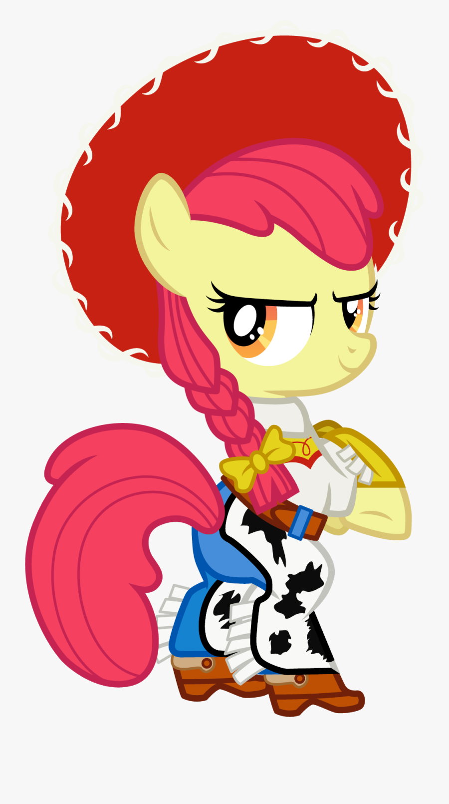 My Little Toy Story And Buzz Lightyear On Mylittledisney - Apple Bloom As Jessie, Transparent Clipart